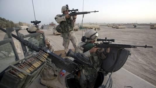 Een van de foto's die David Gilkey maakte in Irak.