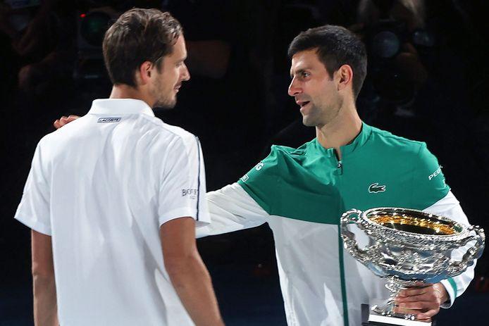 Daniil Medvedev moest in de finale van de Australian Open zijn meerdere erkennen aan Novak Djokovic.