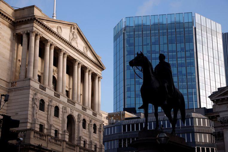 De Bank of England in het financiële district van Londen. Beeld Reuters
