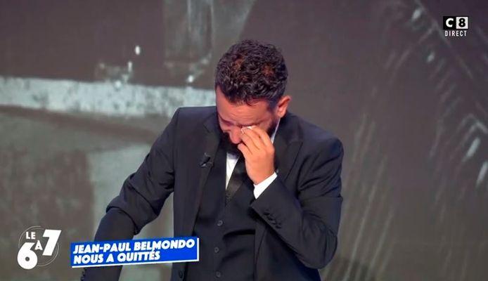 Cyril Hanouna en larmes en évoquant Jean-Paul Belmondo.