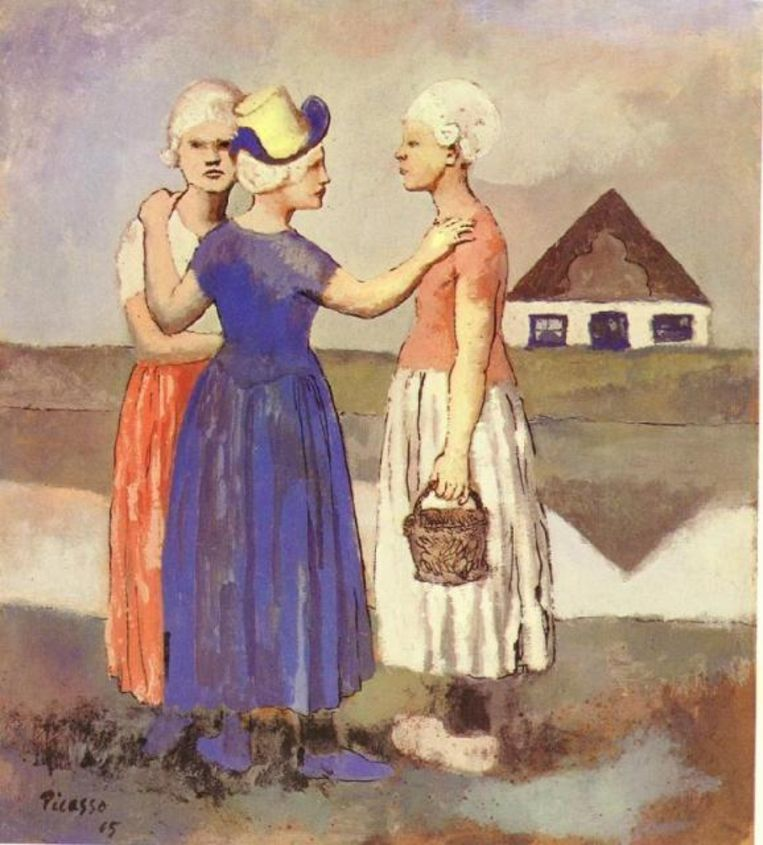 Picasso's 'Les Trois Hollandaises' uit 1905 Beeld