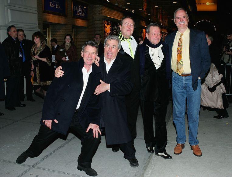 De overgebleven leden van Monty Python in 2005 in New York bij de première van Monty Python's Spamalot. Beeld