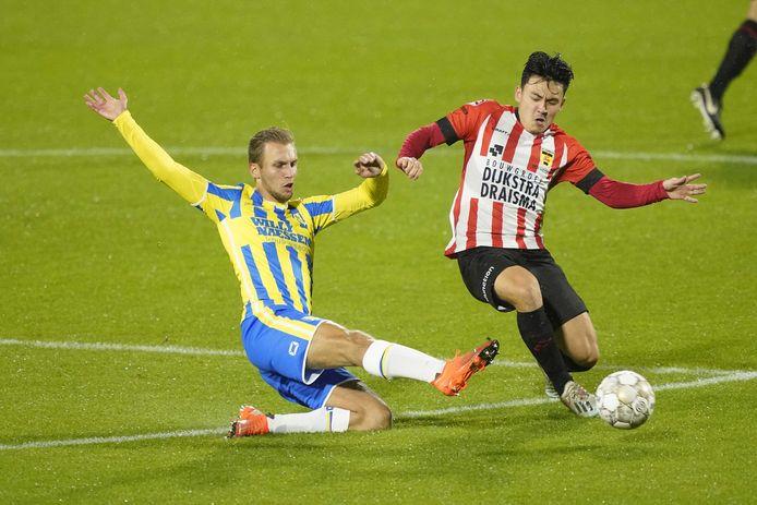 """Finn Stokkers (links) treft vanavond met RKCWaalwijk zijn oude club Sparta. ,,Een familieclub, net als RKC."""""""