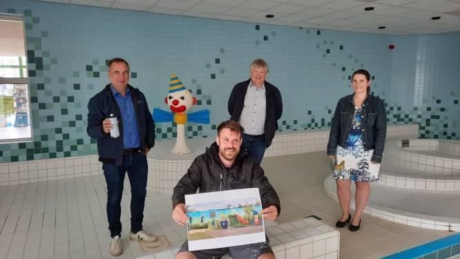 Kuurns zwembad mag voor onbepaalde duur open blijven, en dat wordt gevierd met graffitikunstwerk