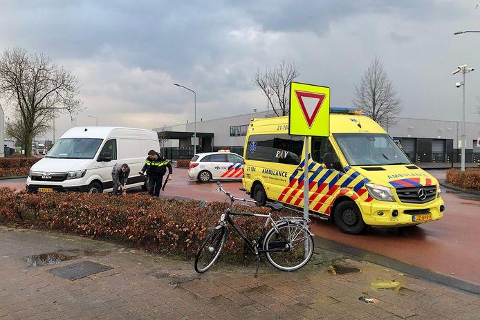Ongeluk op de kruising van de Kruisbroeksestraat met de Ladonkseweg in maart 2020 op bedrijventerrein Ladonk in Boxtel