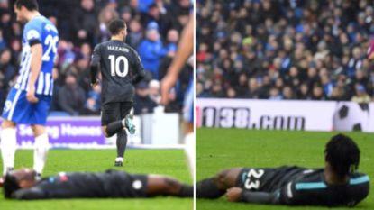 90 minuten gespeeld, een oogstrelende assist gegeven en gelopen voor twee. Maar Batshuayi was duidelijk niet moe na match in Brighton