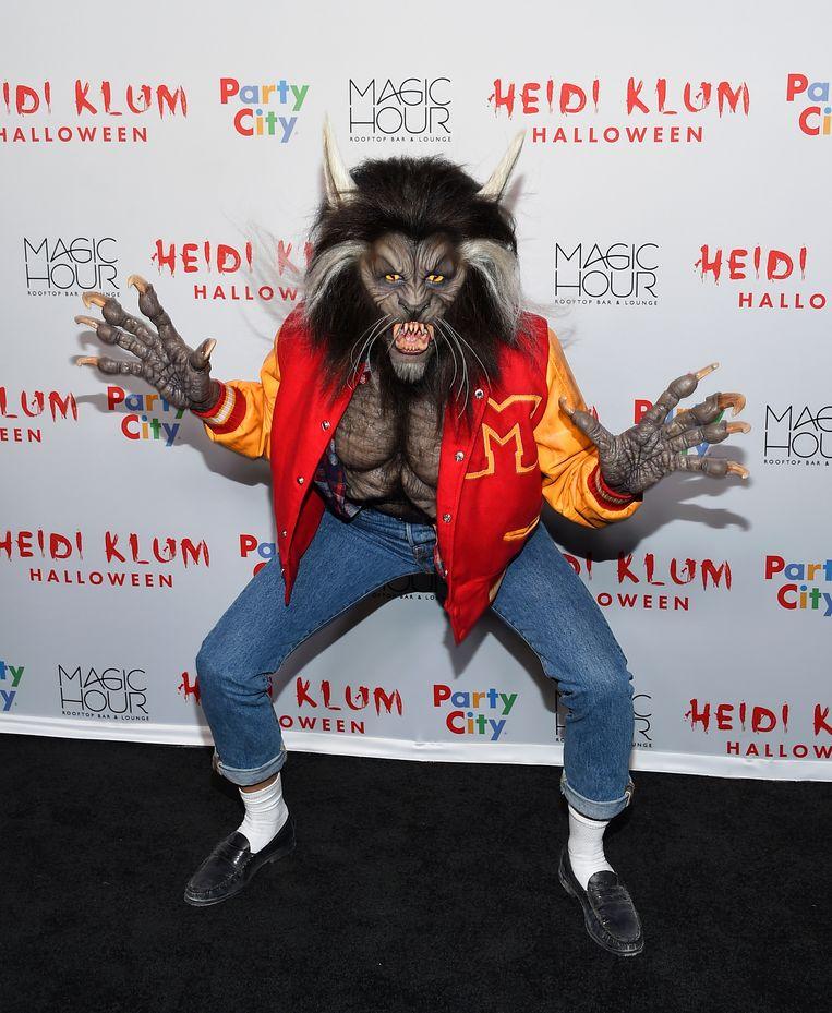 Heidi als de weerwolf uit de clip van 'Thriller' van Michael Jackson.