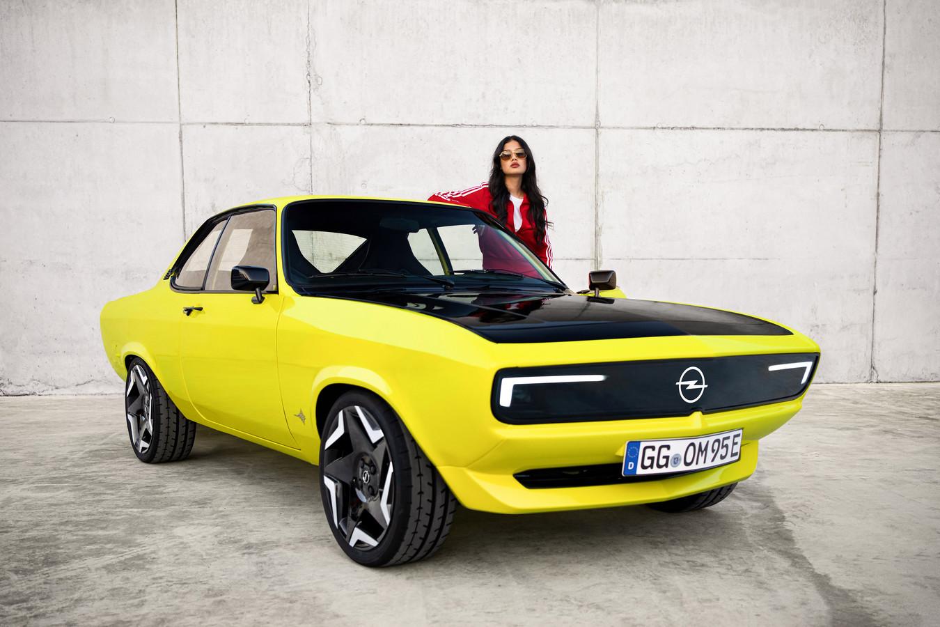 De Opel Manta GSe ElektroMOD: een hele mond vol voor een auto die naar het rijke verleden van Opel verwijst.