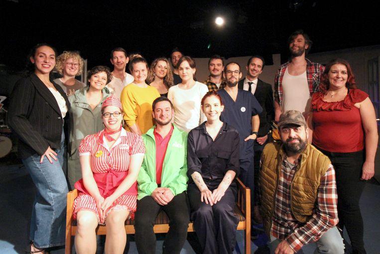 De Engelse muziektheatergroep Happily Ever After Productions voert dit weekend Working: A Musical uit. Beeld Camille Gribbons