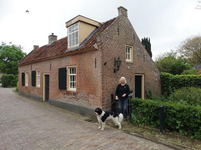 Helma Hendriks en haar hond Anton.