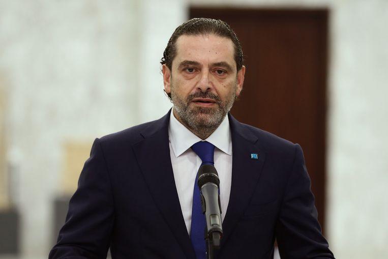 Het is kandidaat-premier Saad Hariri niet gelukt een regering te vormen.  Beeld AP