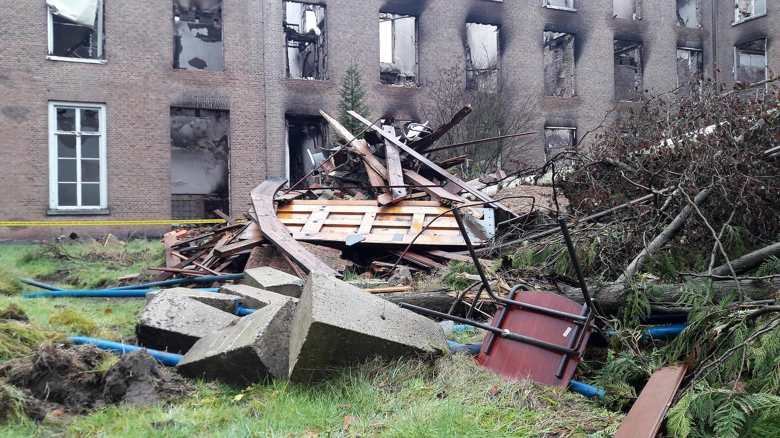Landgoed Haarendael in Haaren enkele maanden na de brand
