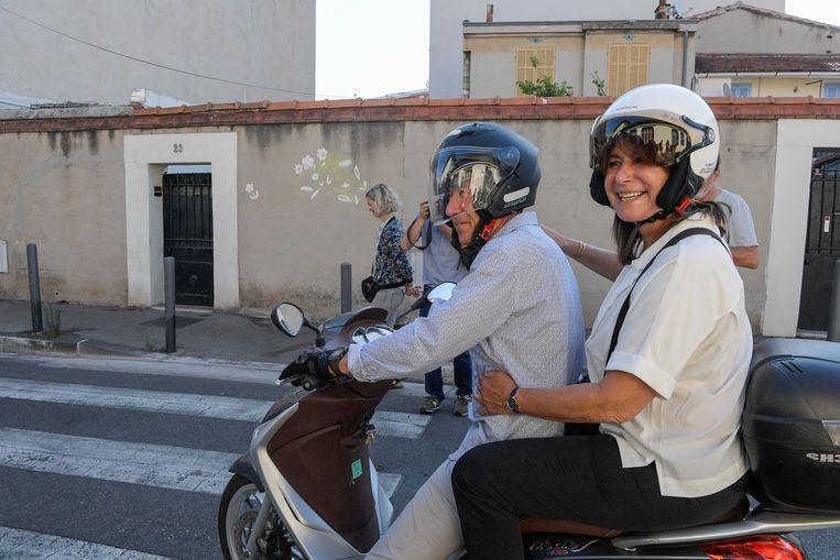 Volgens de exitpolls haalt Michèle Rubirola het in Marseille, de tweede stad van Frankrijk. Beeld Photo News