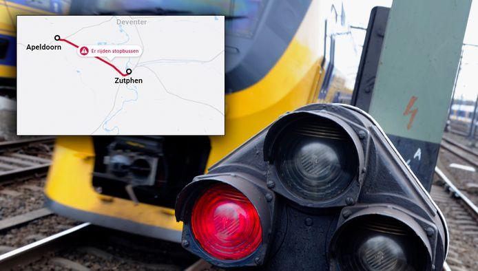 Een seinstoring legt het treinverkeer tussen Apeldoorn en Zutphen  lam.