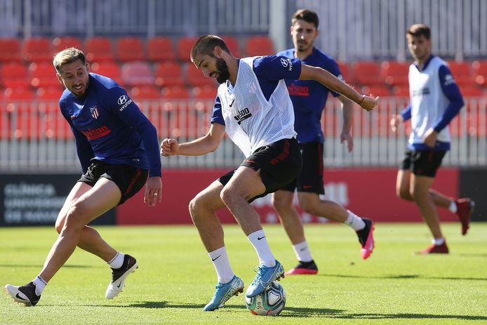 Een training bij Atlético Madrid.