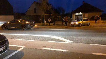 Materiële schade na aanrijding tussen twee voertuigen op Bevrijdingslaan