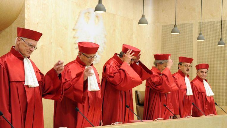 De rechters van de Bundesverfassungsgericht Beeld AFP