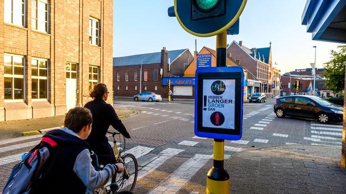 Bordje moet automobilisten waarschuwen voor fietsers