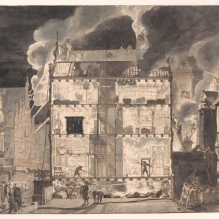 De brandslang van kunstenaar-uitvinder Jan van der Heyden
