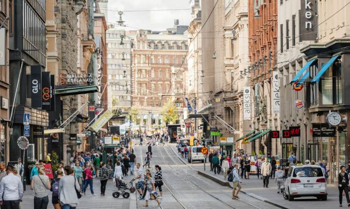 In de stad Helsinki is de maximale snelheid overal 30 kilometer per uur.