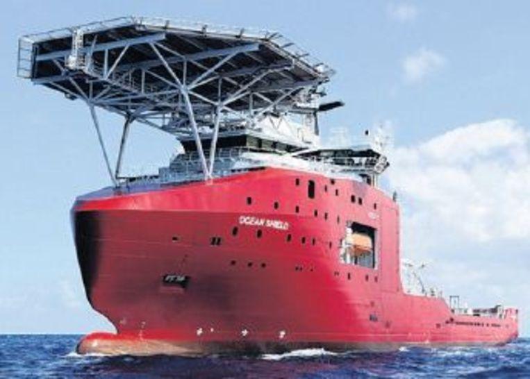 De Ocean Shield van de Australische marine, een van de schepen die mogelijk signalen van de zwarte dozen opvingen. Beeld epa