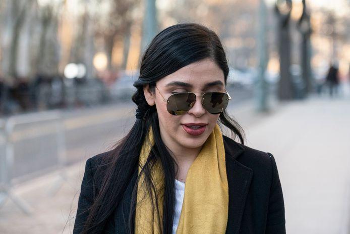 Emma Coronel Aispuro tijdens het proces van haar man, drugsbaron Joaquin 'El Chapo' Guzman, in Brooklyn in 2019.