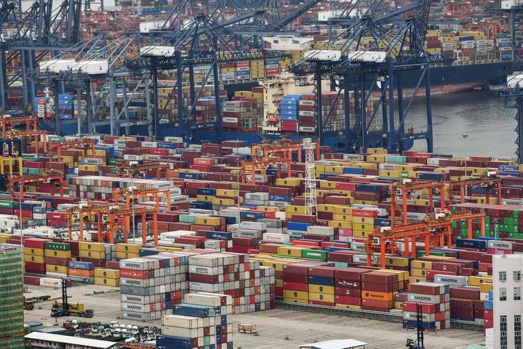 De haven van Yantian. Beeld AFP