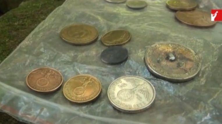 Onderzoekers vonden onder meer Duitse munten in Argentijnse ruïnes.
