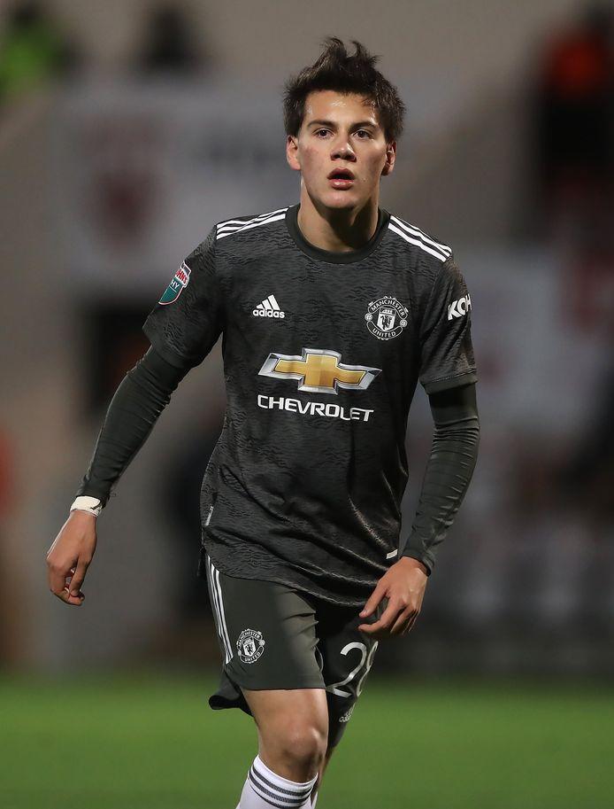 Facundo Pellistri, jonge speler van Man United.