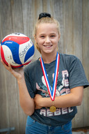 Nijmegen/Nederland: Tess Vonk is Nederlands Kampioen beachvolley Jeugd onder 13 jaar Dgfoto Foto: Bert Beelen
