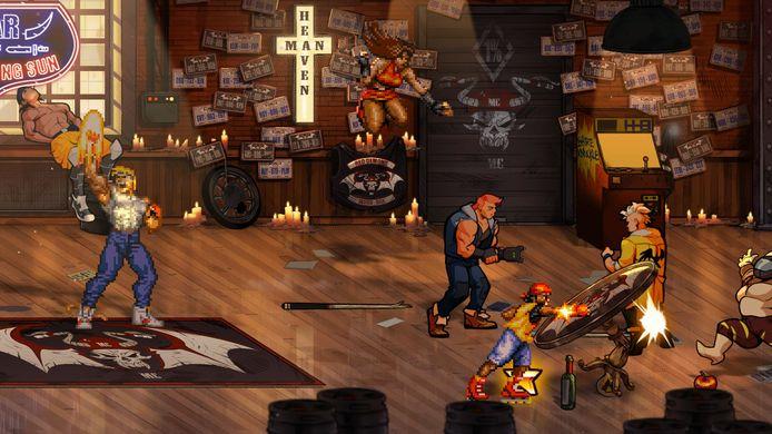 Extra personages uit de oude 'Streets of Rage'-games die je losspeelt, komen terug in hun blokkige vorm uit de vroege jaren 90.