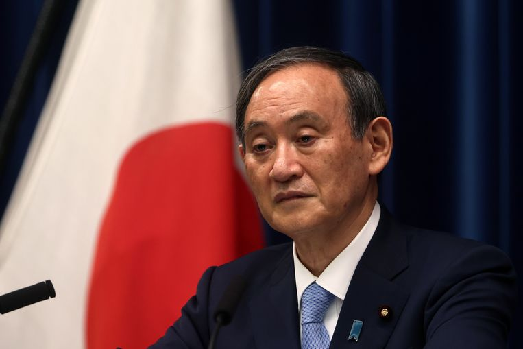 Yoshihide Suga, Japans premier. Beeld EPA