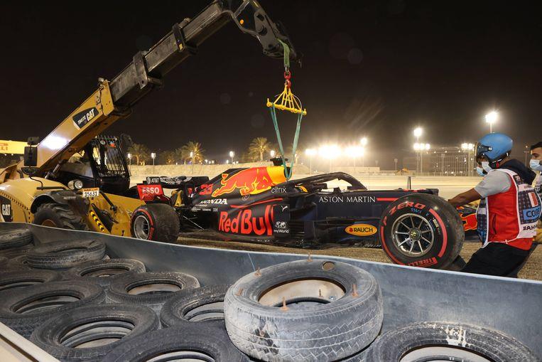 De auto van Max Verstappen.  Beeld BSR Agency