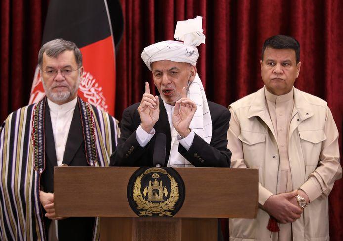 De Afghaanse president Mohammad Ashraf Ghani.