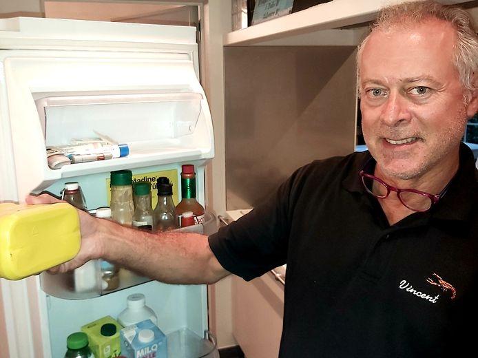 Vincent Dierickx heeft alvast een gele brooddoos in zijn koelkast liggen.