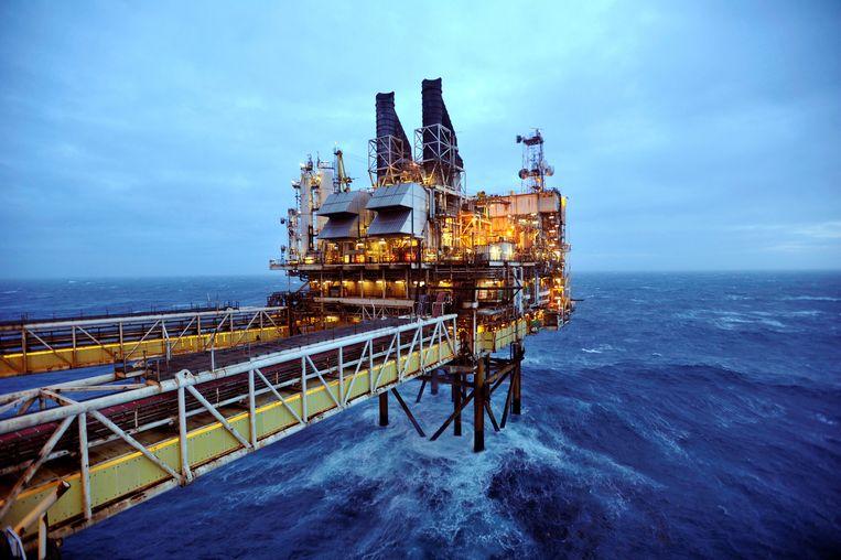 Een deel van het BP ETAP-olieplatform in de Noordzee, zo'n 160 kilometer ten oosten van Aberdeen (Schotland). Beeld REUTERS