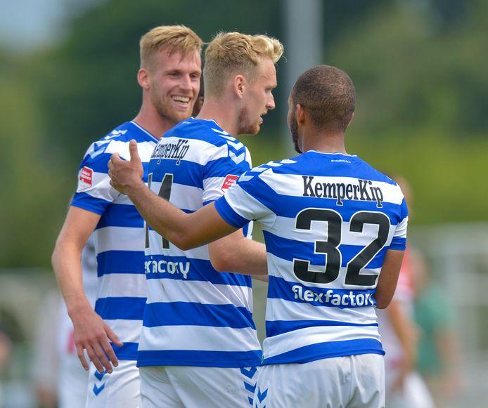 20-07-2019: Voetbal: TOP Oss v De Graafschap: Herpen  juichen De Graafschap  Oefenwedstrijd.