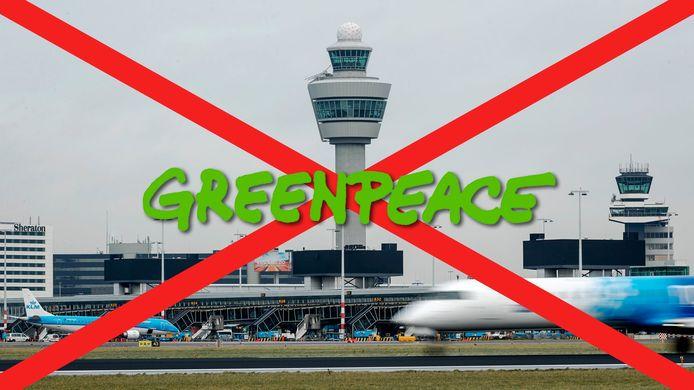Greenpeace gaat vandaag actie voeren op luchthaven Schiphol
