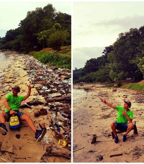 Tijmen uit Hengelo is als trashpacker een fenomeen in Zuidoost-Azië