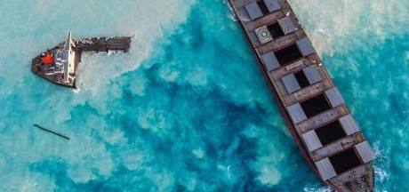 Navire échoué sur les côtes de l'île Maurice: l'étendue des dégâts en images