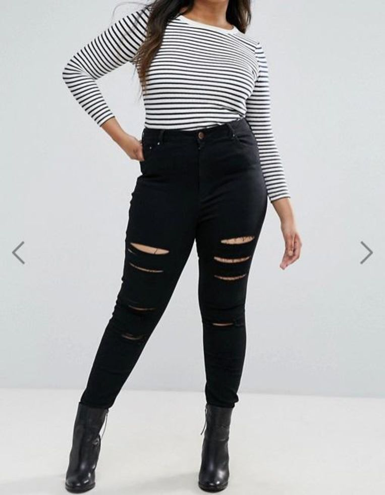 Asos Curve high-waisted jeans, € 43,24