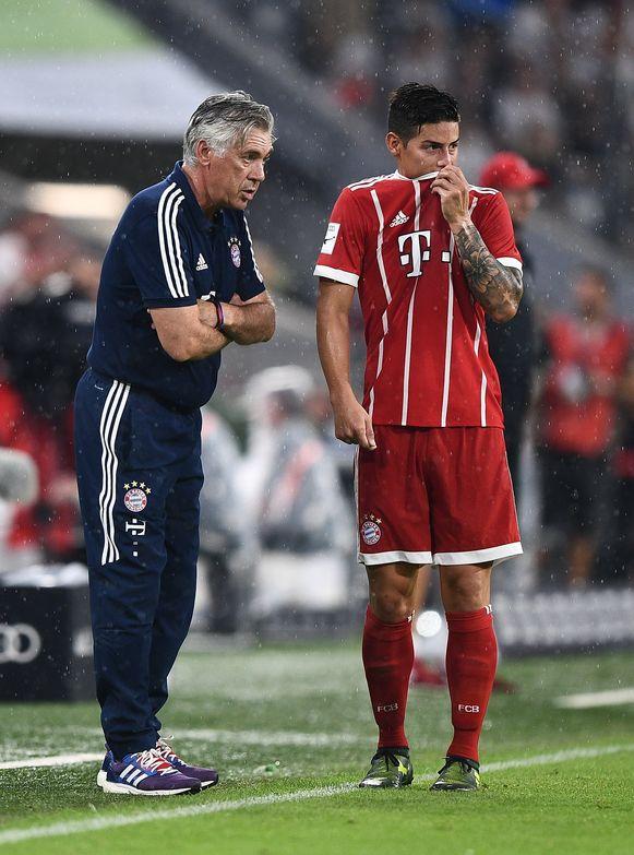 Rodríguez en Ancelotti werkten al eerder samen, onder meer bij Bayern