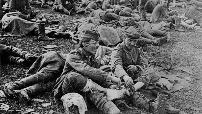 Soldats français en Picardie.