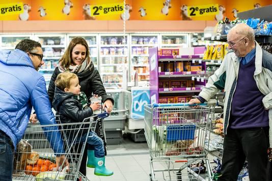 Contact in the supermarket, Ingrid Bertens.
