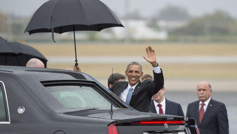 Voor het eerst in bijna negentig jaar is er weer een Amerikaanse president in Cuba. Beeld REUTERS
