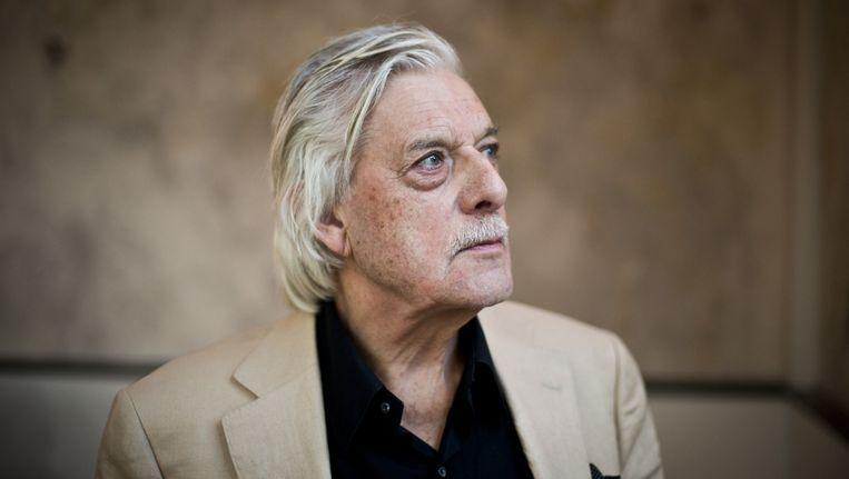 Siebelink bij de viering van zijn 75e verjaardag in de Hortus in 2013 Beeld anp