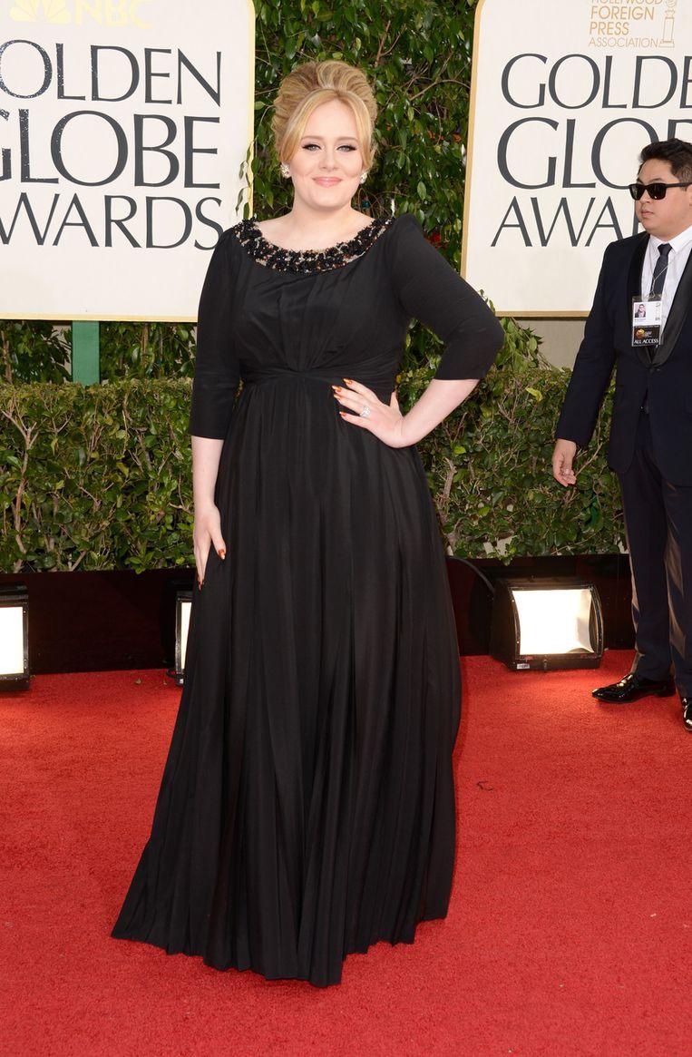 Adele koos voor veilig zwart op de Golden Globes.