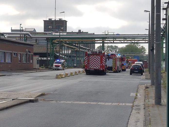 Archief. De brandweer op de site van chemiebedrijf Proviron.