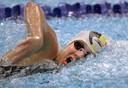 Nina Van Koeckhoven in actie tijdens de kwalificaties van de 200 meter vrije slag in Sydney.