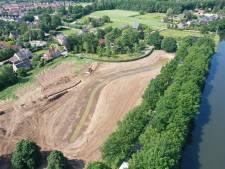Oude loop Linge vormt vijver in nieuw parkje